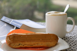 reading with an eclair