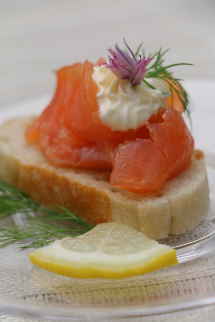 home-cured citrus salmon with dill mayonnaise