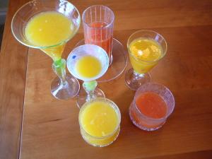 freshly squeezed orange, blood orange and grapefruit juices