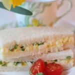 egg and cress tea sandwiches