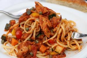good close up pasta fork