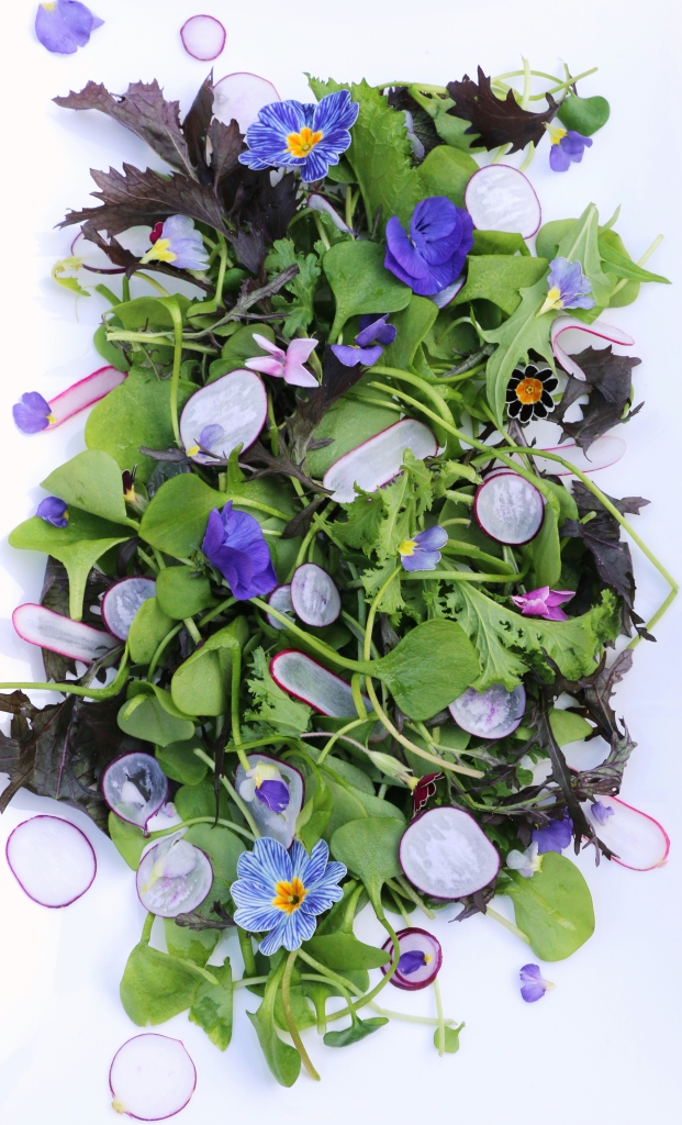 purple floral salad
