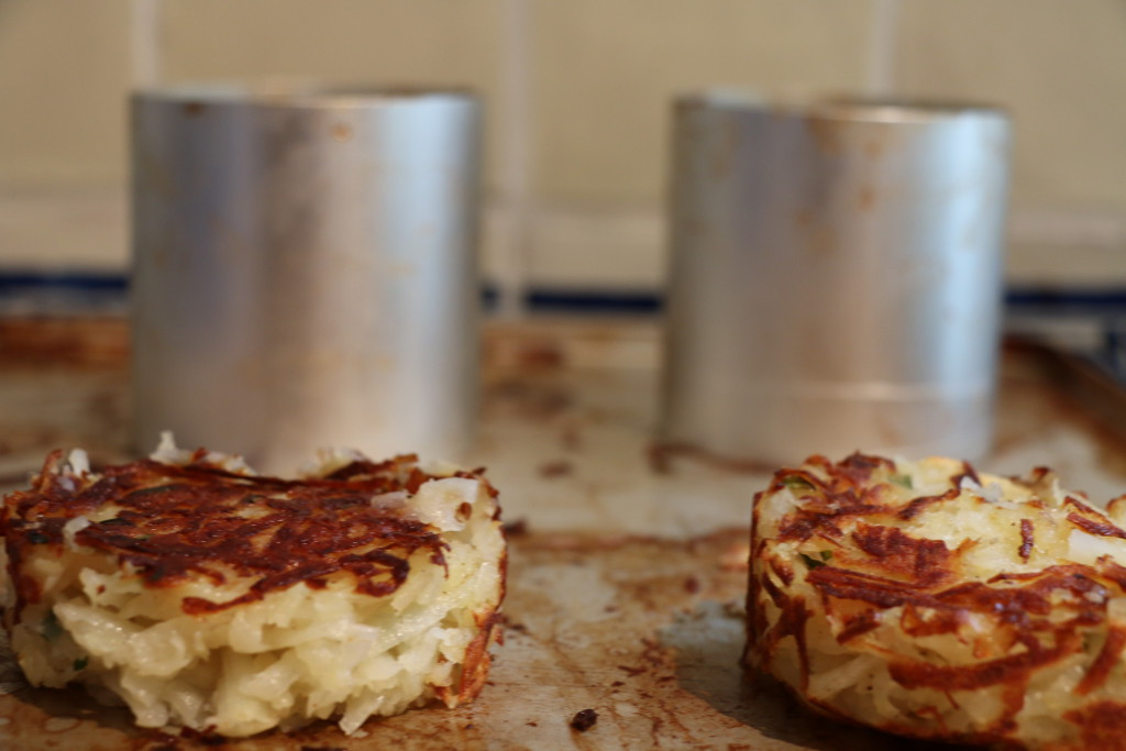 potato rosti cooked in the oven