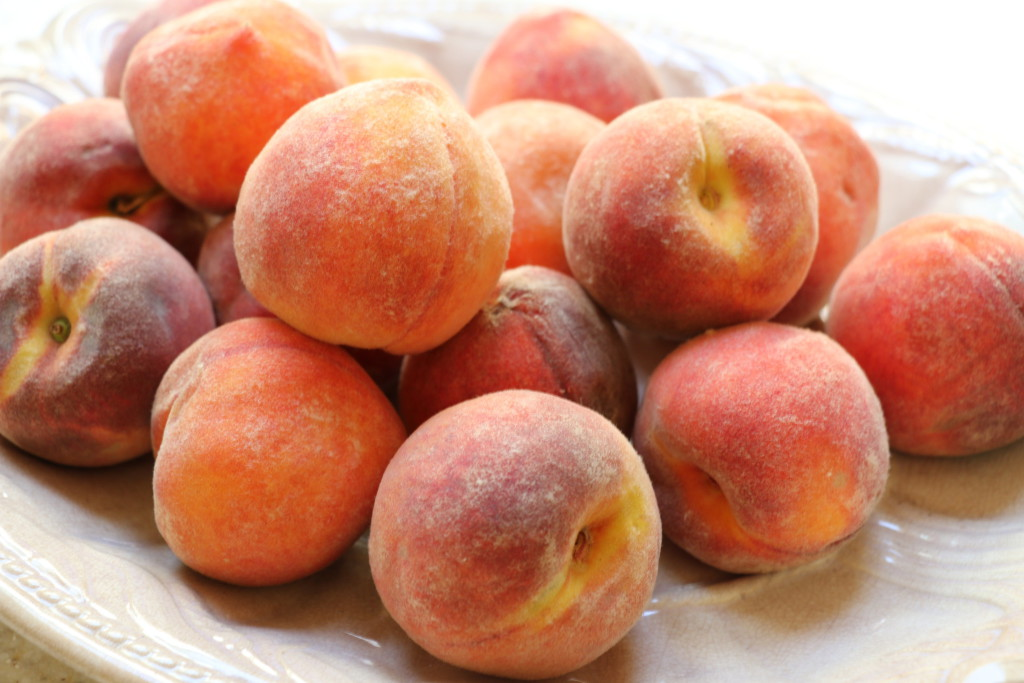 fuzzy Carolina peaches