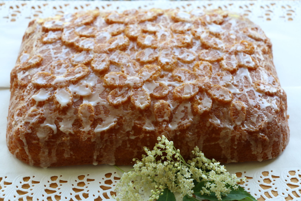 lemon elderflower drizzle