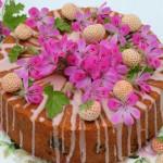 Rose geranium sponge cake