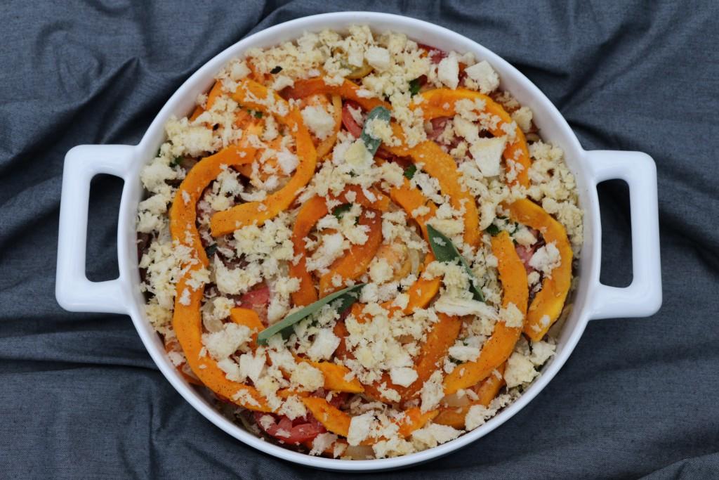 Toulouse-Lautrec pumpkin gratin uncooked CN