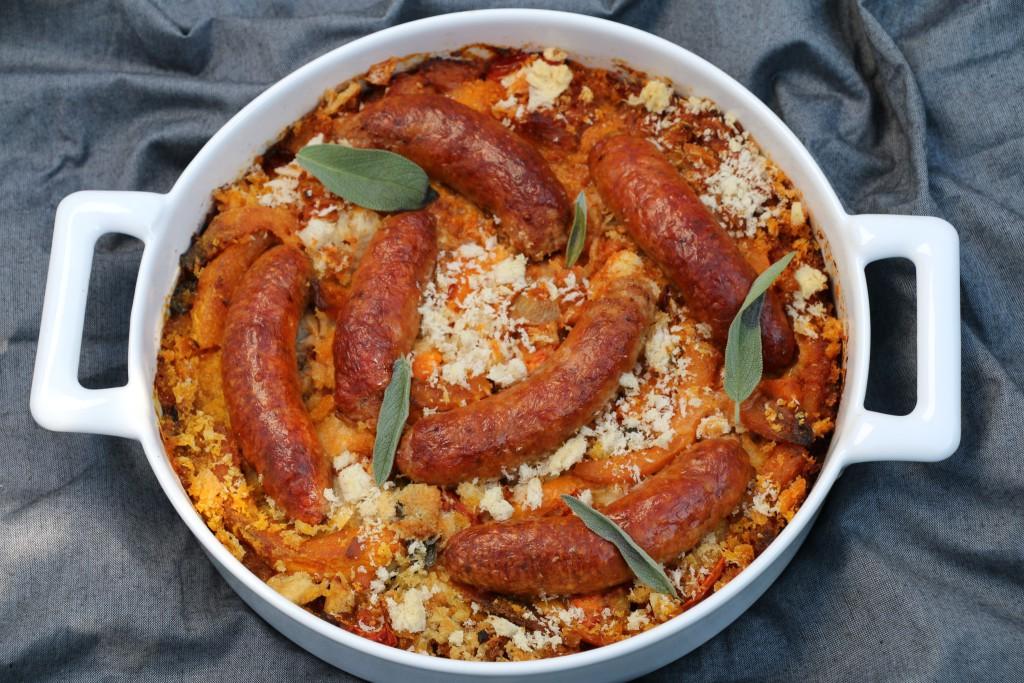 Toulouse-Lautrec pumpkin gratin w sausage CN