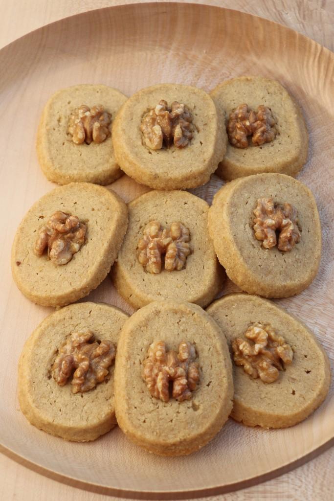 Plate of maple walnut shortbread CN