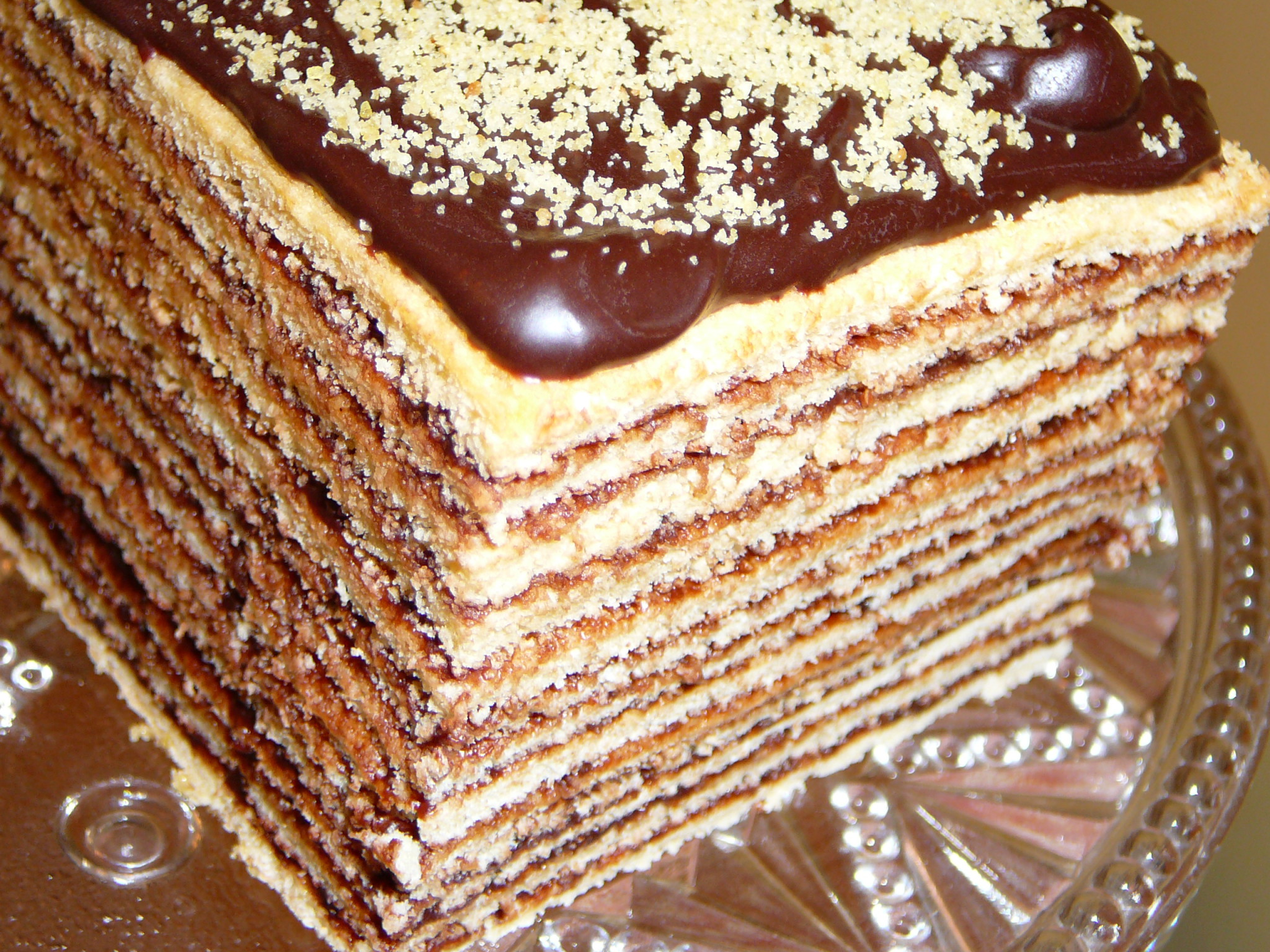 Dobosh Torte Step By Step Crumbs On The Table