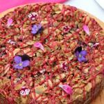 Blackcurrant streusel cake