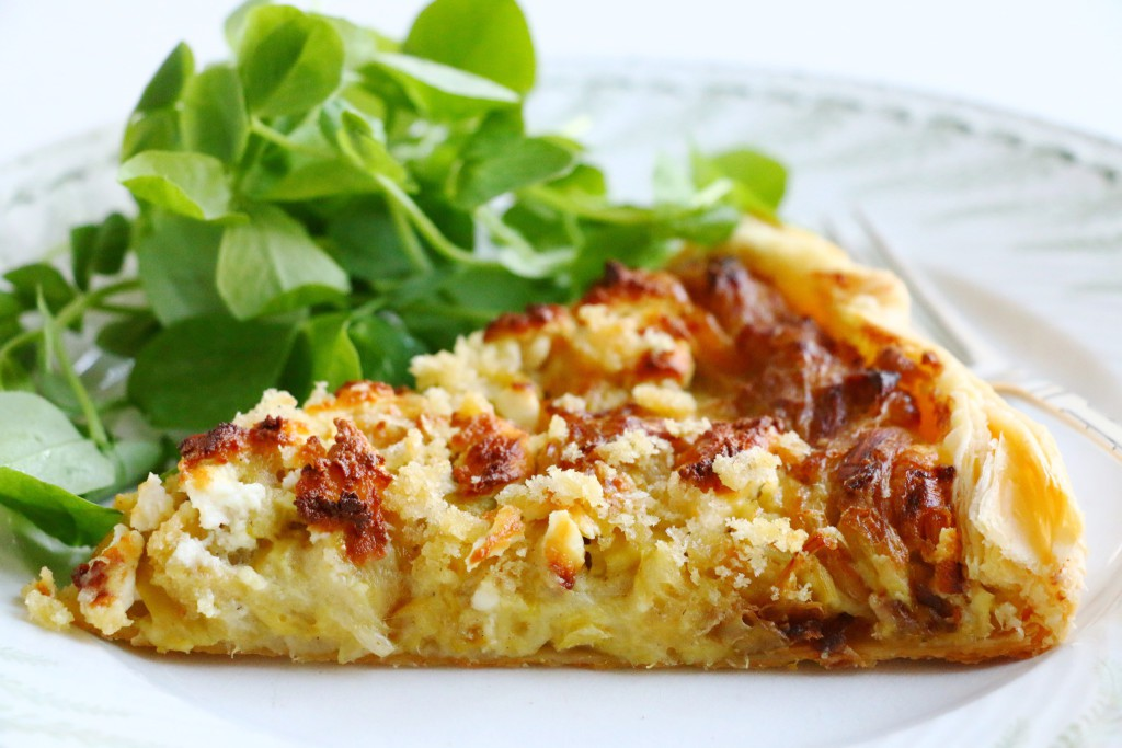Crumbsonthetable Leek and Goat Cheese Tart