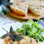 Celery, stilton and sage tart
