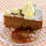 Apple butter and ginger cake